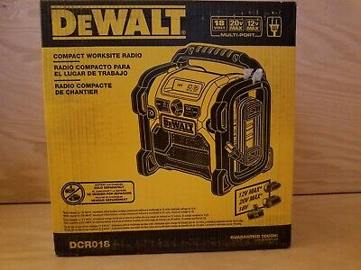 Brand  New  DEWALT   DCR018   12V/18V/20V  Compact Radio Retail Packaging