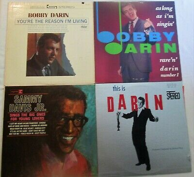 Lot of 4 LPs BOBBY DARIN This is Darin You're the Reason SAMMY DAVIS JR BIg Ones