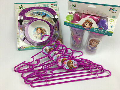 The First Years Sofia the First Sipper Cups & Dish Set Spoon Set Frozen Hangers