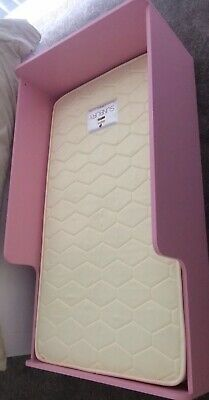 Girls Pink Baby Toddler Bed And Mattress