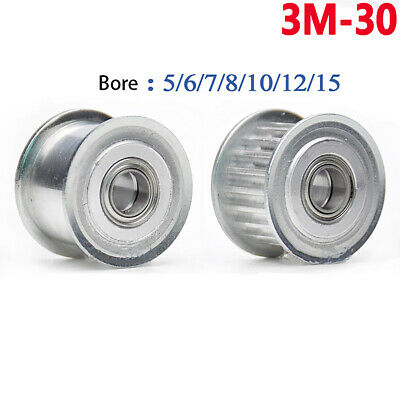 3M-30T Idler Timing Pulley Bearing Bore 5-15mm for Width 11/16mm Belt 3D Printer