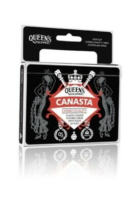 2 x Canasta Playing Cards Queen's Slipper Double Deck Casino Quality w/Guide