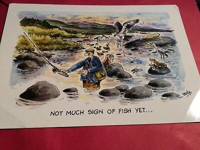 Postcard - Not Much Sign of Fish