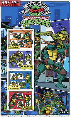 St Vincent & Grenadines 2009 MNH Teenage Mutant Ninja Turtles 4v M/S TNMT Stamps