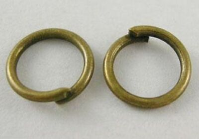 100x Antique Bronze Open Jump Rings Split Rings 6mm Dia x0.9mm thick(B05158)