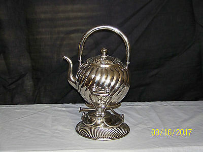 Antique c1887 Wilcox Silverplate Company Tilting Hot Water Server