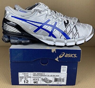 new products 352ca 7d801 VERY RARE Asics Gel Kinsei 5 White Silver Blue Mens Size 12 BRAND NEW