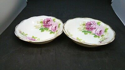 "2x American Beauty Royal Albert Round Cereal/Soup Bowl 6.25"" England You Get Two"