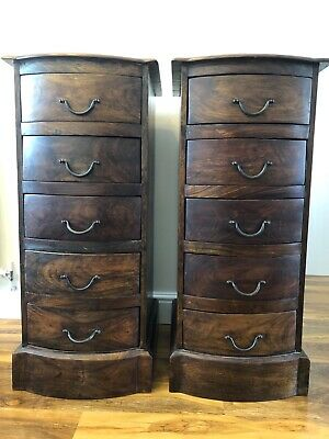 chest of drawers solid oak pair