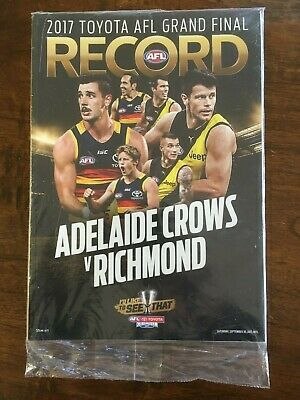 RICHMOND v ADELAIDE CROWS 2017 AFL GRAND FINAL RECORD in MINT Condition
