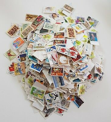 HUNDREDS of Used AUSTRALIAN Stamps Decimal Bulk Lot ALL OFF PAPER