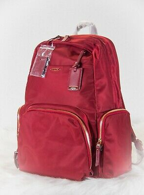 31ced598d645b Authentic Tumi Calais Voyageur Backpack in Crimson Red 0484707CRS NEW WITH  TAGS