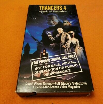 Trancers 4: Jack of Swords VHS Full Moon Entertainment Paramount Tim Thomerson