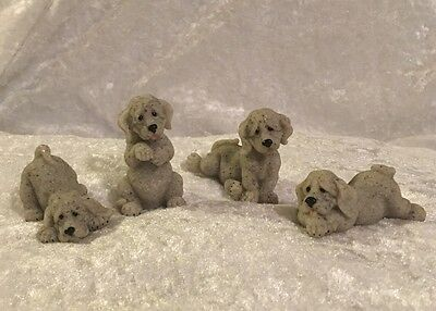 Quarry Critters Puppies...Dog Figurines...Set Of Four..BN