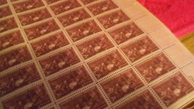 """Sheet of 50 1940's antique stamps, """"The Doctor""""!"""