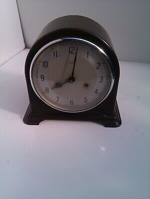 An Old Bakelite Chiming Mantel Clock In Full Working Order
