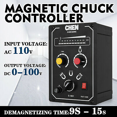 Electro Magnetic Chuck Controller 110V 5A Magnetic Chucks Demagnetizing 9-15s