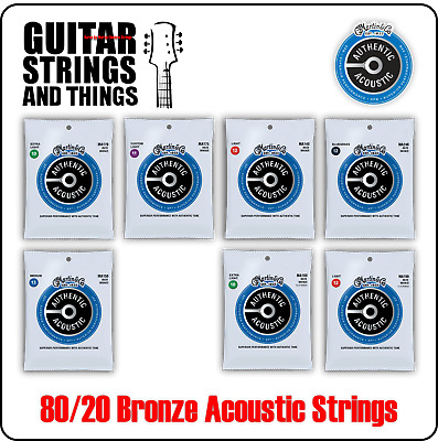 Martin Authentic Acoustic SP 80/20 Bronze Acoustic Guitar Strings 6 & 12 String