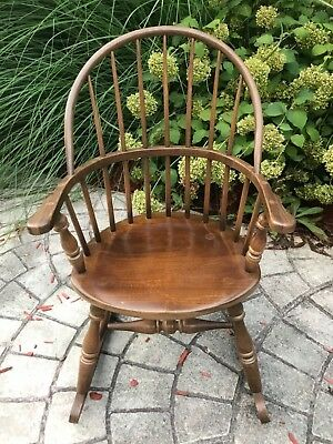 Frederick Duckloe & Bros Windsor Style Child Size Rocking Chair Arm Chair Cute!