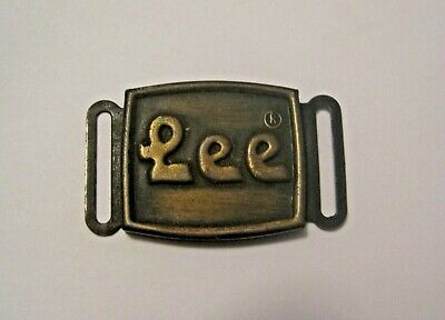 RARE VINTAGE 1970's LEE JEANS CLOTHING ADVERTISING BELT BUCKLE ~ HIPPIE STYLE ~