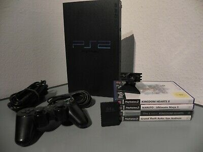 Sony Playstation 2 / PS2 - Konsole inkl. Controller + Eye-Toy-Kamera +  Spiele