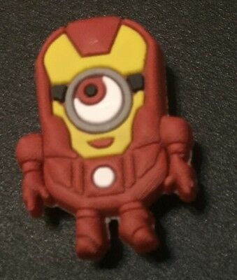 Croc shoe Charm Jibbitz Jewelry Fun IRONMAN MINION