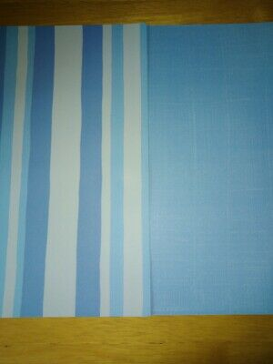 Paper 2 x A4 sheets blue and blue striped Cardmaking Scrapbooking Craft