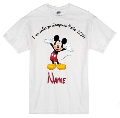 Disneyland Paris Personalised Tshirt Featuring Mickey Mouse 1-13yrs