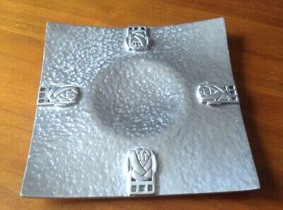 Vintage Glasgow Arts & Crafts Style Planished Pewter? Candle Stand