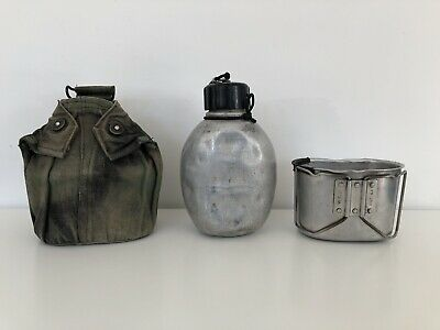British Army 1944 Pattern Aluminium Water Bottle Mug And Canvas Pouch SAS Borneo