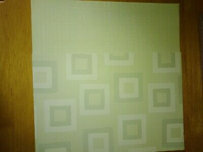 Paper 2 x A4 sheets Green with squares and pale green Cardmaking Scrapbooking