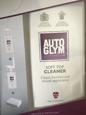 Autoglym Convertible Fabric Hood Cleaner Soft top Clean & Protect 3 Piece Kit