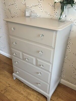 Stag Tall Boy 7 Drawers Sideboard Cabinet Painted Laura Ashley Shabby Chic