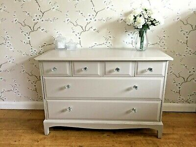 Stag 6 Drawers Sideboard Cabinet Painted Laura Ashley Shabby Chic