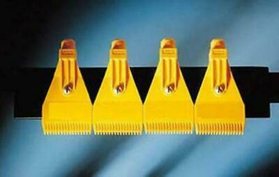 50pcs New Yellow Plastic ABS Air Nozzle Air Knife 1/4'' H1 Blowing Nozzle