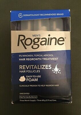Men's Rogaine 5% Minoxidil Hair Regrowth Treatment Foam - 3 Months Supply 05/19