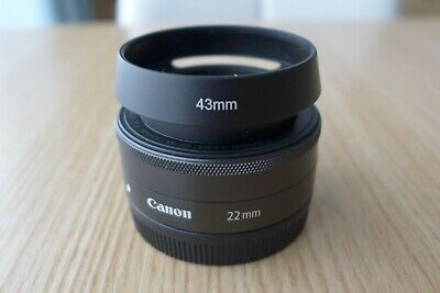 Canon EF-M 22mm F/2.0 STM Lens Black *MINT*