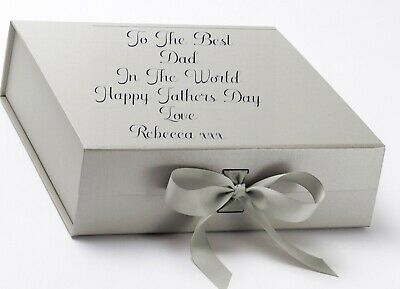 Fathers Day Gift Box Personalised Gift Box Large Gift Box gift boxes with ribbon