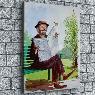 "12""x16""Emmett the Clown HD Canvas prints Painting Home decor Picture Wall art"