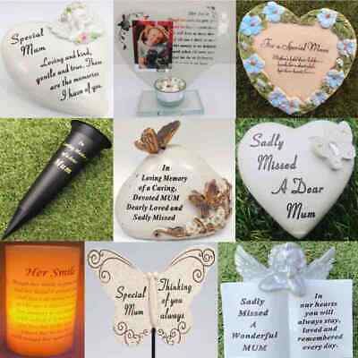 Mum Mothers Day Grave Memorial Plaque Frame Stake Vase Ornament Remembrance Item