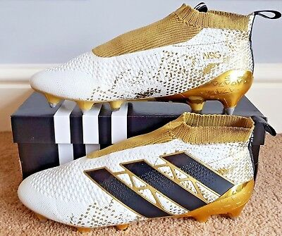 8ee694ad4 ADIDAS ACE 16+ Purecontrol SG  Pro Version  White Core Black Gold ...