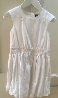 Marks & Spencer M&S Autograph White Broderie Anglaise Dress Age 2-3 years