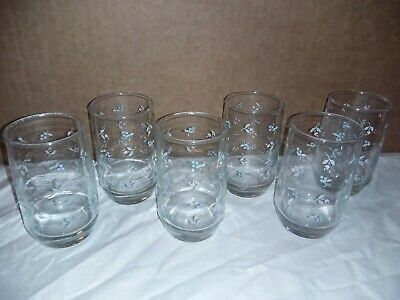 Anchor Hocking Flower And Berry Glasses Set Of 6