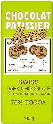 Menier Swiss Dark Cooking Chocolate (4x100g)