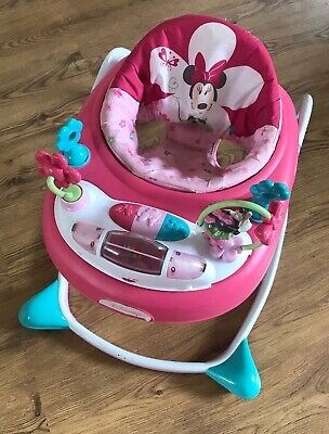 Disney Baby Minnie Mouse Bows and Butterflies Pink Activity Walker with sound