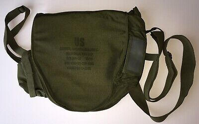 US Army Chemical Biological Field Gas Mask Canvas Bag Carrier