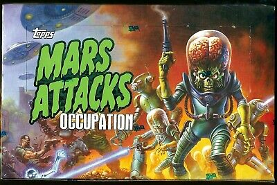 Mars Attacks Occupation Topps  2015 SEALED BOX 24 PKS- 2 HITS- SKETCH-AUTOGRAPHS