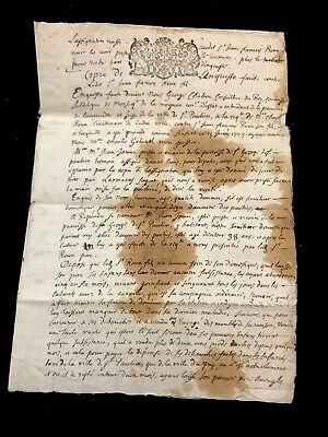 1709 RARE Handwritten Document