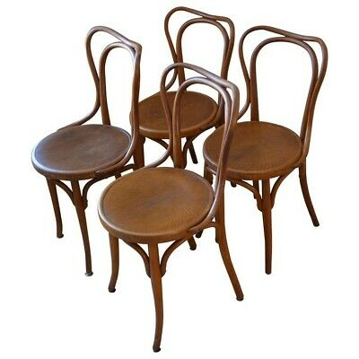 Dining Chairs Bentwood J & J Kohn Bistro, Austria Early 1900s, Set of 4 from 16