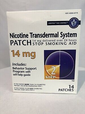 Habitrol® Step 2 Nicotine Patch Transdermal System 14Mg 14 Patches Exp 12/2019
